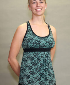 Shanti Yoga Top with Bra - Jade Lace