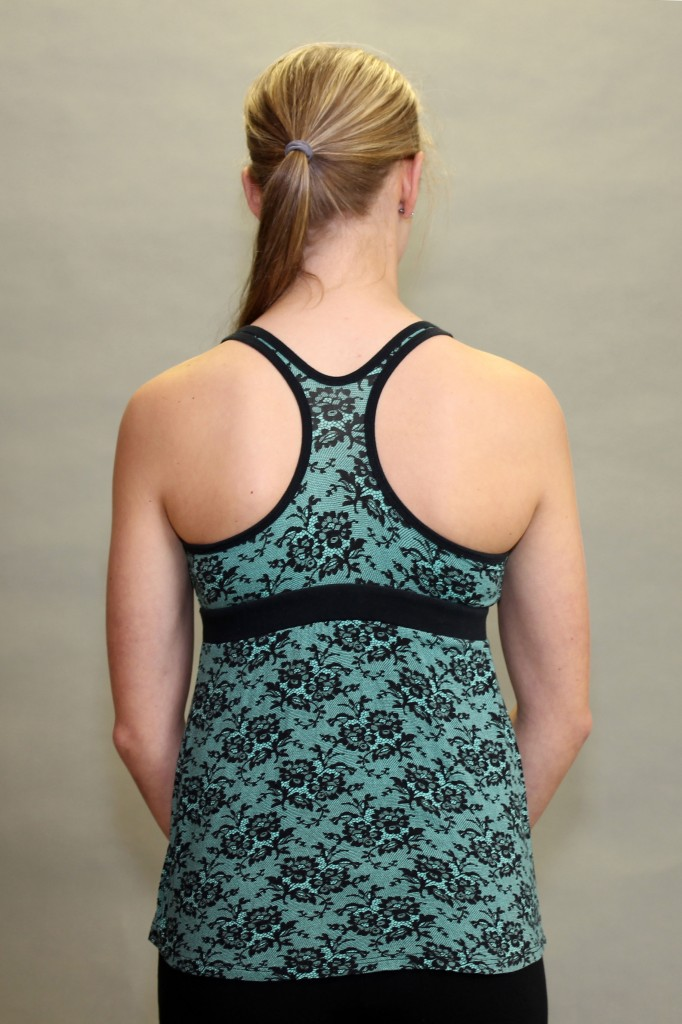 Shanti Yoga Top with Bra - Jade Lace