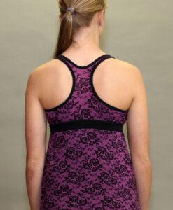 Shanti Yoga Top with Bra - Raspberry Lace