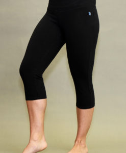 Organic Cotton Crop Yoga Legging - Black