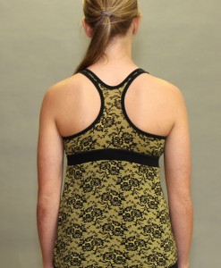 Shanti Yoga Top with Bra - Daffodil Lace