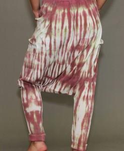 Tie-Dye Gauze Harem Yogini Pant - Rose/Sage