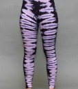 Organic Cotton Yoga Legging - Rose Quartz Bengal Tiger Tie-dye