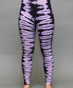 Organic Cotton Yoga Legging - Lavender/Black Tie-dye