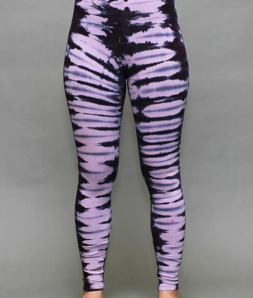 Organic Cotton Yoga Legging - Rose Quartz Bengal Tiger Tie-dye by Blue Lotus Yogawear