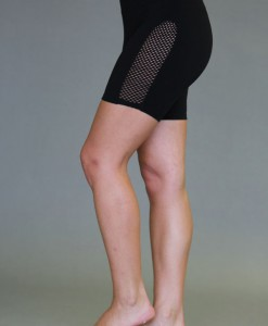 Mesh Cutout Yoga Short - Black