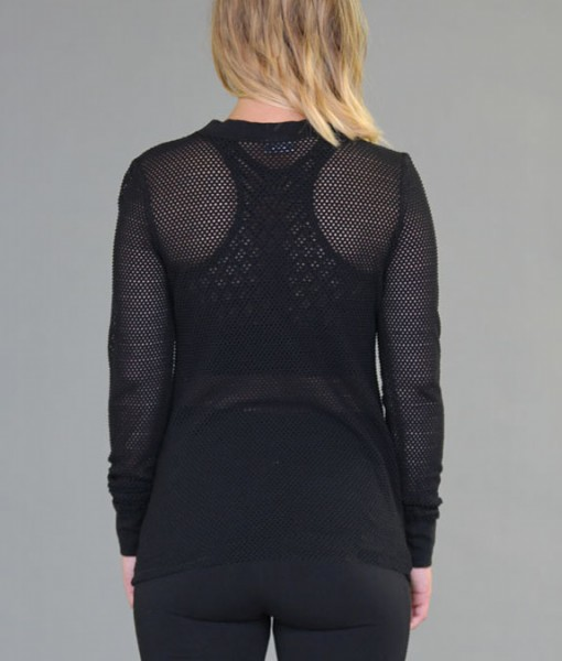 Mesh Long Sleeve Yoga Top