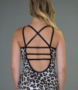Caged Open-Back Yoga Top - Leopard Print