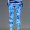 Organic Cotton Yoga Skirted Legging - Blue Tie-dye