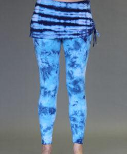 Organic Cotton Yoga Skirted Legging - Blue Tie-dye