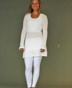 Gauze Long Sleeve Dress - Kundalini White