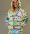 Zip Front Fleece Hoodie - World of Color Tie-dye
