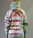 Zip Front Fleece Hoodie - World of Color Tie-dye