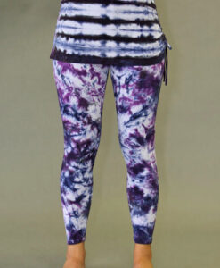 Organic Cotton Yoga Skirted Legging - Purple Tie-dye