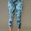 Organic Cotton Yoga Legging - Turquoise/Black Tie-dye
