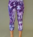 Organic Cotton Crop Yoga Legging - Purple Spiral Tie-dye
