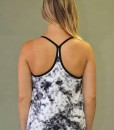 Y-Back Yoga Tank with Bra - Black & White