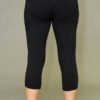 Mesh Cutout Crop Yoga Legging - Black