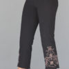 Organic Cotton Capri Yoga Pant with Hand Painted Mehndi Design by Blue Lotus Yogawear
