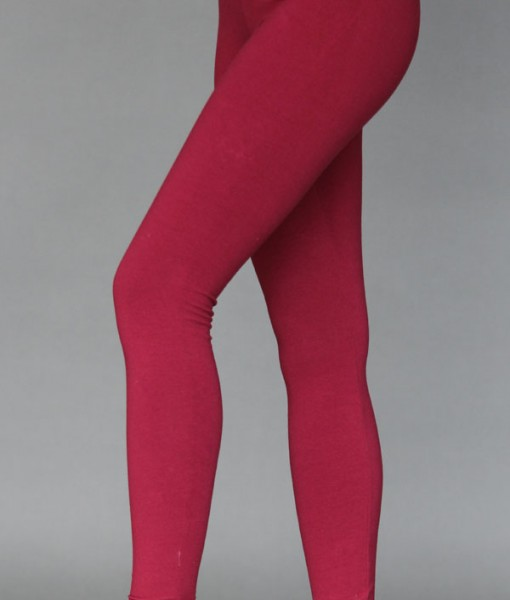 Organic Cotton Yoga Legging - Wine by Blue Lotus Yogawear