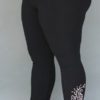 Organic Cotton Yoga Legging - Mehndi Hand-painted Design