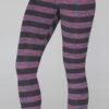 Variegated Stripe Cotton Lycra Yoga Legging by Blue Lotus Yogawear