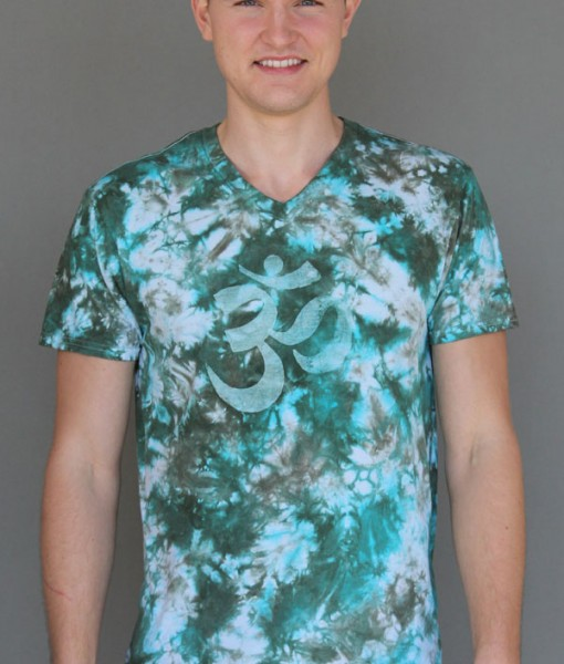 Men's Granite Dye OM Tee Jade/Turquoise by Blue Lotus Yogawear