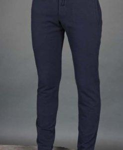 Men's Organic Cotton 4-Way Stretch Yoga Pant -Indigo by Blue Lotus Yogawear. Pre-Shrunk, Easy Care, Made in USA