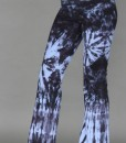 Organic Cotton Foldover Waist Yoga Pant - Serenity Blue Tie-dye by Blue Lotus Yogawear. 4- way Stretch, Pre-shrunk, Easy Care, Made in USA.