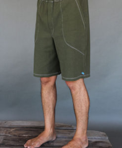 Men's Cotton Yoga Short With Pockets- Olive by Blue Lotus Yogawear