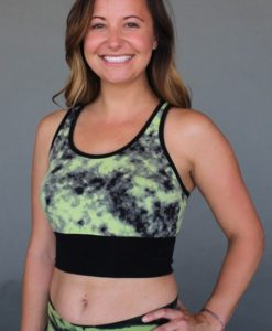 Print Yoga Tankini - Lime/ Black by Blue Lotus Yogawear