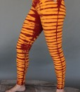 Organic Cotton Bengal Tiger Tie Dye Ankle Length Yoga Legging- Inner Fire by Blue Lotus Yogawear