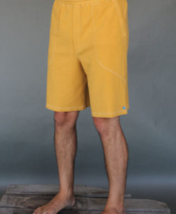 Men's Cotton Yoga Short With Pockets- Gold by Blue Lotus Yogawear