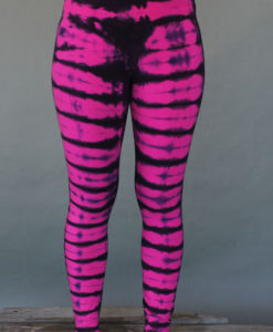 Bengal Tiger Tie Dye Ankle Length Yoga Legging- Fuchsia Indigo by Blue Lotus Yogawear