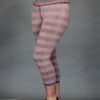 Striped Crop Yoga Legging - Coral and Sand Stripe by Blue Lotus Yogawear