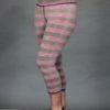 Striped Crop Yoga Legging - Coral and Sand Stripe by Blue Lotus Yogawear