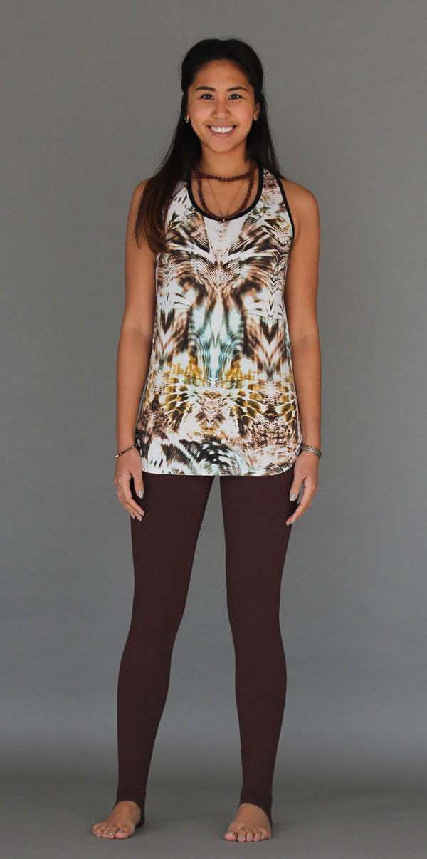 Tiger Print Cinch Back Yoga Tank
