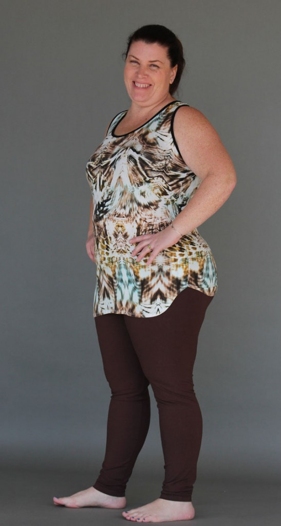 Tiger Print Cinch Back Yoga Tank XXL