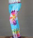 Organic Cotton Hippie Tie Dye Foldover Waist Yoga Pant by Blue Lotus Yogawear. 4 way Stretch, Pre-Shrunk, Easy Care, Made in USA
