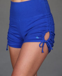 """Brazilian Butt Lift"" Yoga Short- Royal Blue Organic Cotton by Blue Lotus Yogawear"