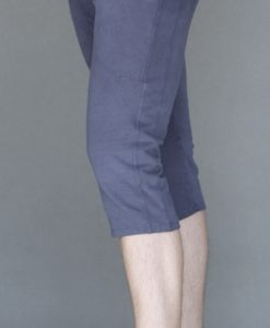Men's Organic Cotton 4-way Stretch Capri Yoga Pant- Indigo by Blue Lotus Yogawear