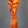 Organic Cotton Foldover Waist Yoga Pant - Inner Fire Tie Dye by Blue Lotus Yogawear. Pre-shrunk, Easy Care, Made in USA
