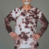 Men's Linen Long Sleeve Guru Shirt - Granite Tie Dye By Blue Lotus Yogawear