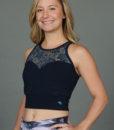 Organic Cotton Lace Yoke Tankini - Navy by blue Lotus Yogawear