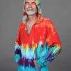 Organic Cotton Baja Hoody- Tie Dye by Blue Lotus Yogawear