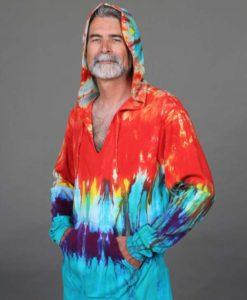Organic Cotton Baja Hoody- Tie Dye by Blue Lotus Yogawear