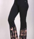 Organic Cotton Bleach Tie Dye Flare Leg Yoga Pant - Black by Blue Lotus Yogawear