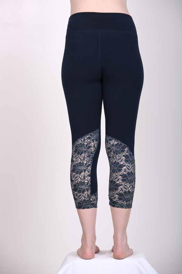 50afc699cc22ec ... Capri Yoga Legging- Navy by Blue Lotus Yogawear. Add to Wishlist loading