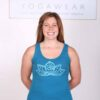 Lotus Motif Yoga Tank Top - Teal by Blue Lotus Yogawear