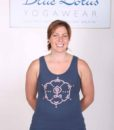 hand Painted Inner Guru Motif Yoga Tank Top - Indigo by Blue Lotus Yogawear
